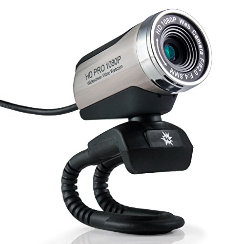 Stopmotion Explosion USB 2.0 HD Pro Widescreen Video Full 1080p Webcam with Built in Microphone and Flex Stand for Windows PC, Laptops and Apple OS X