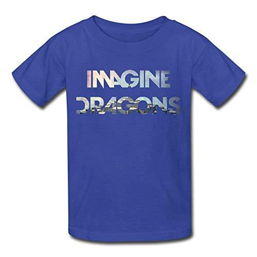 FlandFT Hombre Imagine Dragons Rock Band Logo Casual Manga Corta Camiseta