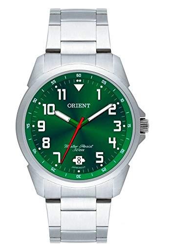 Relógio Masculino Orient Prata/Verde - MBSS1154 E2SX