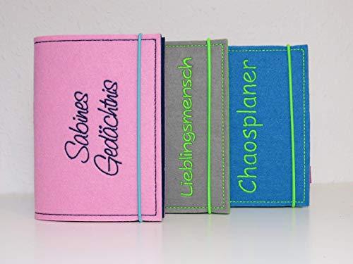 Kalenderhülle A6 inkl. Kalender A6 komplett individuell gestalten - Wunschtext und Wunschfarben
