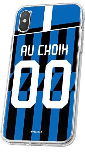 MYCASEFC - Cover calcio Inter Milan Honor 8X, in silicone, personalizzabile Custodia per smartphone personalizzata e realizzata in Francia in TPU