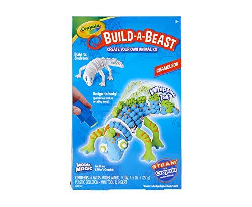 Crayola Build A Beast Chameleon, Model Magic Craft Kit, STEAM/ STEM Learning Toys, Gift for Kids, 5, 6, 7, 8, Multicolor