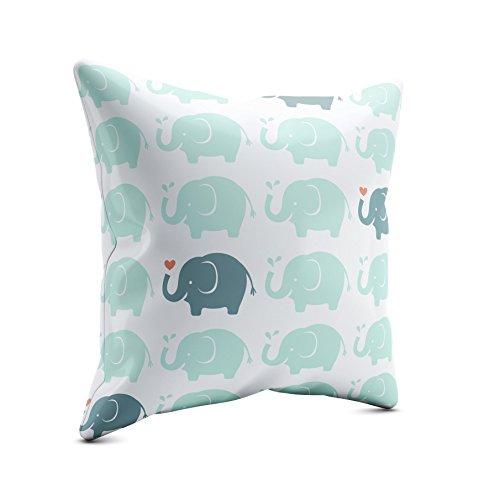 PICANOVA – Elephant Heart 30x30cm – Premium Zierkissen Mit Füllung – Deko Für Baby- Und Kinderzimmer Mit Motivauswahl – Kinder Kollektion