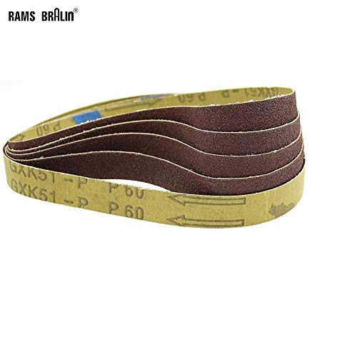 GHKUFH Schuurband 10 stks 520 * 20mm Schuurbanden Schuurmachine Tool voor Bandslijpmachine P60 - P320, P120