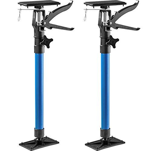 TecTake Türspanner Teleskopstange | stufenlos verstellbar | leichte Handhabung - Diverse Modelle (2er Set blau | Nr. 402612)