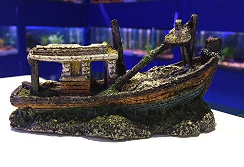 Mezzaluna Dekoelement für Aquarien, klein, U-Boot, Hubschrauber, Boot, Schiff