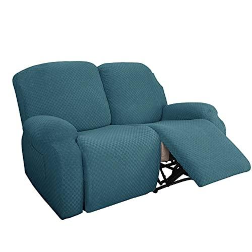 Elastico Ispessimento Assessore all-Inclusive Sedia Cover Tessy Sofa Copertura reclinata, Copertura di Divano Elasticizzato Rivestire Protezione per mobili Elastici,Peacock Blue 2,1