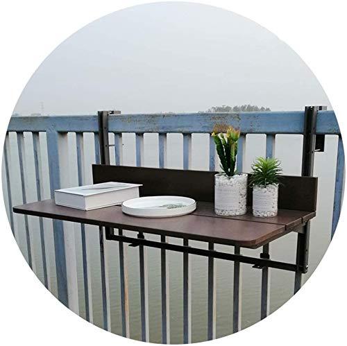 WZH Sillas Plegables Mesa de barandilla de balcón Ajustable, Mesa Colgante de balcón Ahorro de Espacio