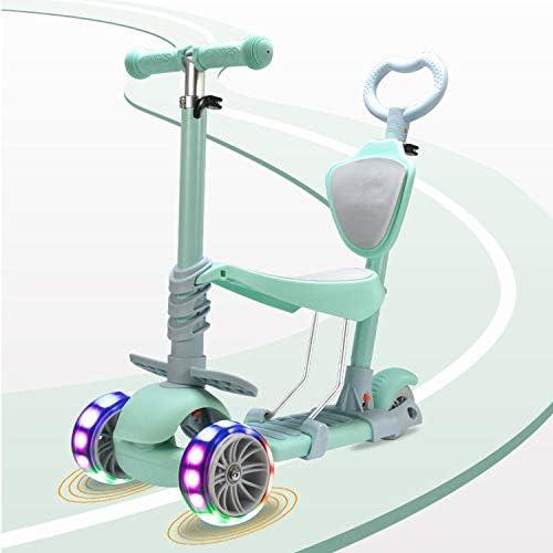 F.RUI KinderScooter YA29 Kinderroller h nverstellbarer 3-PU Blinkenden LED Rollen Faltbar Leichtgewicht Kinder ab 3-10 Jahren für Jungen und mädchen