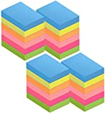 ZCZN Notas Adhesivas,Pack de 24 Bloc de notas,38*51mm,100 Hojas por Bloc,Total de 2400PCS,6 Colores