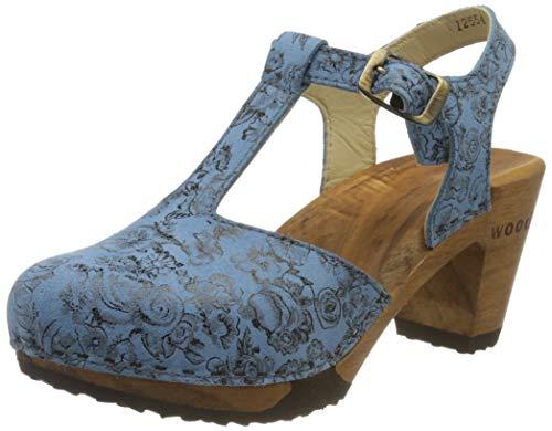 Woody Carolin, Zuecos Mujer, Azul (Capri 084), 36 EU