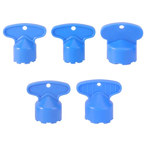 DOITOOL 5pcs Cache Faucet Aerator Key Removal Wrench Tool DIY Faucet Aerator Install Tool Spanner for Bathroom Sink Faucet 16.5mm 18.5mm 21.5mm 22.5mm 24mm (Blue)