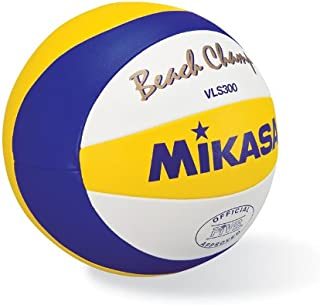 MIKASA VLS300, BEACH CHAMP � OFFICIAL GAME BALL OF THE FIVB,Blue/Yellow
