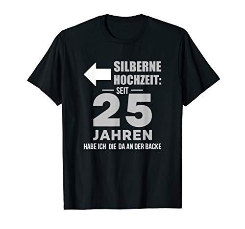 Herren Silberhochzeit 25 Jahre Silberne Hochzeit Ehemann Geschenk T-Shirt