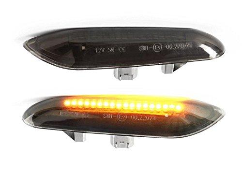 LED Seitenblinker Klar Rauchglas Schwarz Links+Rechts Set E-Prüfzeichen