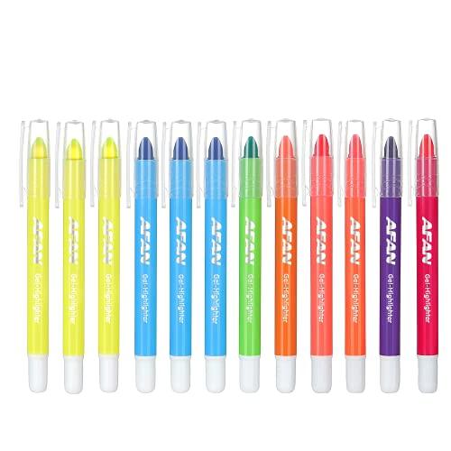 Subrayadores de gel de color para oficina, subrayadores sólidos, marcadores de...
