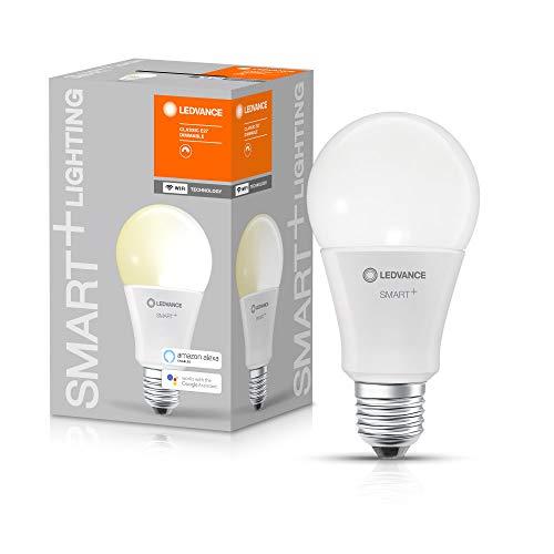 LEDVANCE Lampada LED intelligente con tecnologia WiFi, attacco E27, bianco caldo (2700 K), sostituisce le lampade a incandescenza con 100W, SMART+ WiFi Classic dimmerabile, confezione da 1