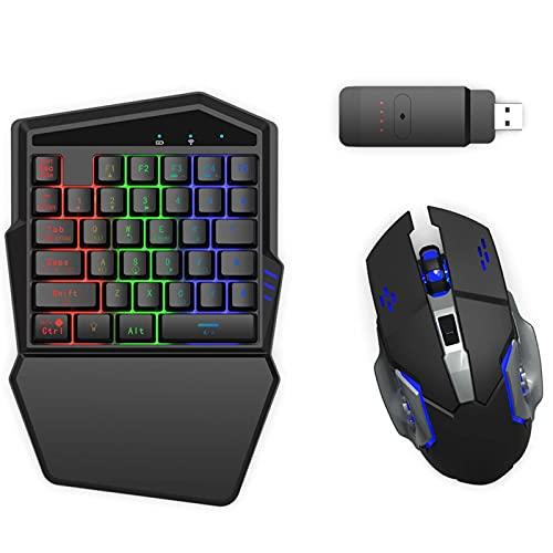 DarkWalker Tastiera e Mouse da Gioco per Nintendo Switch, PS4, Xbox One, PC, Adattatore Integrato (Wireless)