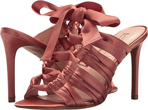 Avec Les Filles Womens Janelle Satin Open Toe Special Occasion, Pink, Size 10.0