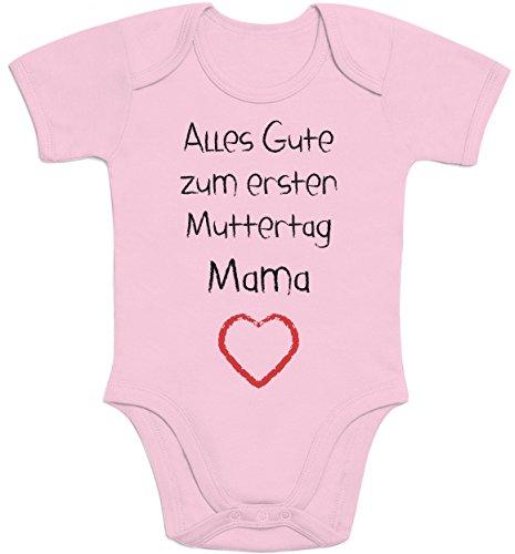 Shirtgeil alles goed voor de eerste Moederdag mama hart - baby cadeau voor moeder baby rompers lichaam korte mouwen