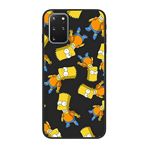 Soft Black Shockproof Thin Durable Flexible Case for Samsung Galaxy S20 Plus-The-Simpson Homer-Father 6