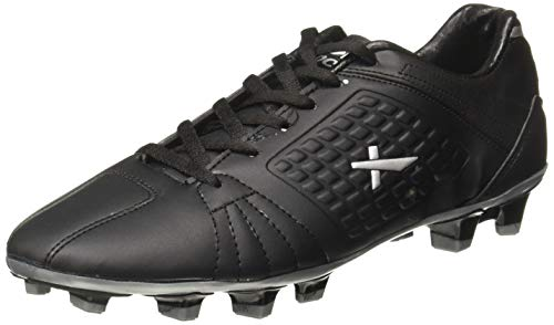 Vector X Velocity Football Shoes (Black-Silver) (6)