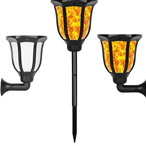 unknow Solar Light LED Sensor Flamme Post Wandleuchte wasserdichte Außenlaterne Flackernde Rasenlampe Für Garten Straßenlaterne