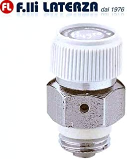 Caleffi - Válvula automática de 1/4 de pulgada, higroscópica de flujo de aire para radiadores, cód. 508021