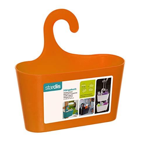 Duschkorb orange mit Haken zum Einhängen Duschregal Badregal Bad Utensilo Hängeregal