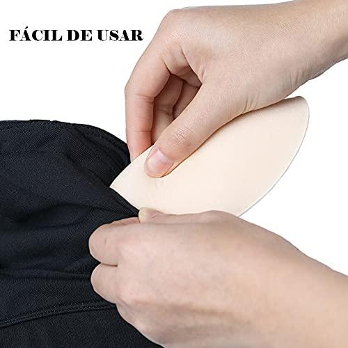 3 Pack Almohadillas Sujetador Push-up, Rellenos Inserciones de Lencería Repuesto Extraíble Triangulo para Bikinis/Top deportivo/Bañador/Sujetadores de Lactancia Beige apto (3 Grueso)