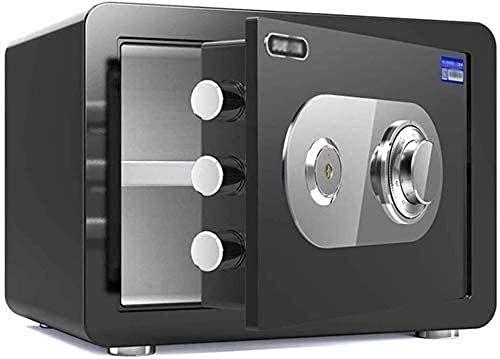 Caja de seguridad electrónica de acero a prueba de fuego Caja fuerte de gabinete Caja fuerte a prueba de fuego 30x38x30cm, Contraseña mecánica Cajas fuertes de protección contra la corrosión (Col
