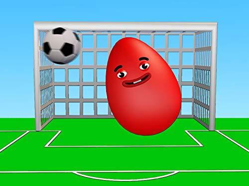 Lernen Sie Farben und spielen Sie Fußball mit Eiern