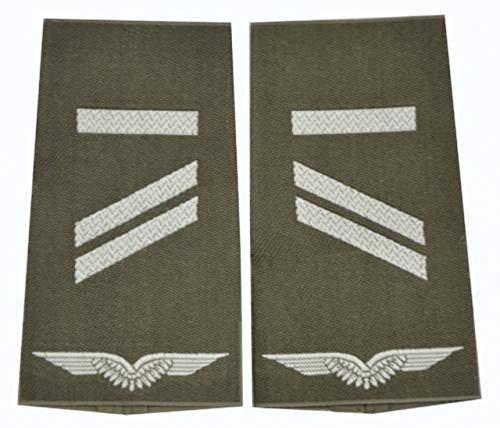 A.Blöchl Bundeswehr Luftwaffe Rangschlaufen Oliv - Silber (Obergefreiter UA)