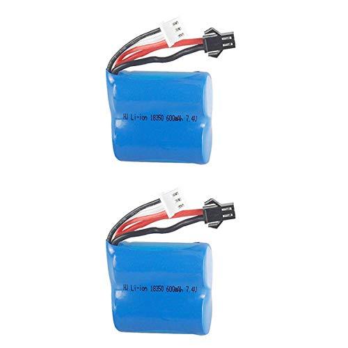 zjpvip218 7,4 V 600 mAh Li-Po-Batterie für H100 H102 Hochgeschwindigkeits-RC-Boot Li-Ion 18350 600 MAH 7,4 V Batterie-2 STÜCKE