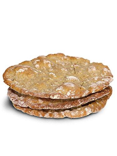Pane tradizionale dell Alto Adige  Schüttelbrot  di segale, kit da 4 confezioni da 155 g ciascuna. Fatto a mano, leggero, croccante e gustoso.