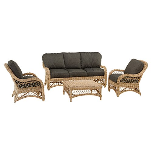 Rotin Design Ventas Flash : -55% Salon de Ratan Kingston: 1 Sofa, 2 sillones, 1 Mesa