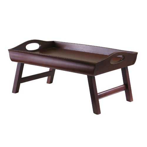 Winsome Wood Sedona Bed Tray, Antique Walnut