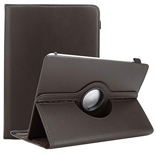 Cadorabo Tablet Hülle für Alcatel 1T (10 Zoll) in BRAUN - Schutzhülle aus Kunstleder mit Standfunktion - 360 Grad Hülle mit Gummiband