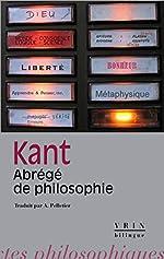 Abrégé de Philosophie d'Emmanuel Kant