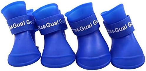 Ducomi Zampette - Zapatillas Impermeables para Perros - Cómodas y Fáciles de Poner - Protegen Las Patas de tu Mascota - Reducen el Riesgo de Infecciones en Caso de Heridas (M, Azul)