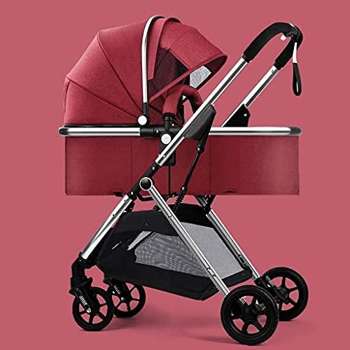 Cochecito de viaje para el recién nacido Niño Niño Conveniencia Conveniencia Cochecito, carruaje de bebé anti-shock, cochecitos de buggy compactos, cochecito de cochecito de aluminio, área de asiento