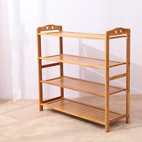 M-YN Zapatero Los estantes de Almacenamiento de Almacenamiento apilables y Extensibles de bambú soportan hasta 24 Pares de Zapatos de Nogal, Ideales for pasillos (Size : 4-Tier 70 * 25 * 68CM)