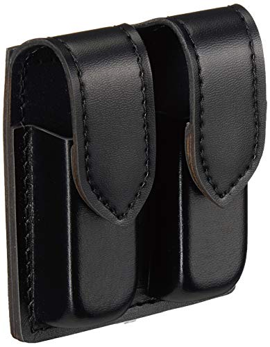 Safariland Duty Gear Glock 19 Hidden Snap Double Handgun Magazine Pouch (Plain Black)