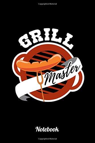 Grill Master: 6x9 Notizbuch Kariert | Grillmeister | BBQ | Buch Grill | Notizbuch A5 | Gästebuch...