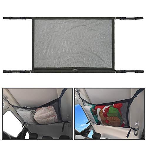 LEKO - Bolsa de almacenamiento para el techo del coche, malla para el coche, con cremallera, transpirable, ajustable, malla para equipaje