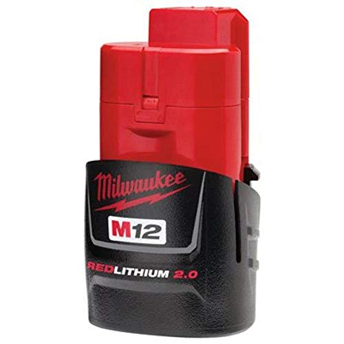 MILWAUKEE'S 48-11-2420 M12 REDLITHIUM 2.0 Compact Battery Pack (1-Pack)