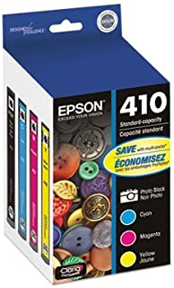 Epson T410520 (410) Ink Cartridge, Photo Black/Cyan/Magenta/Yellow, 4/PK