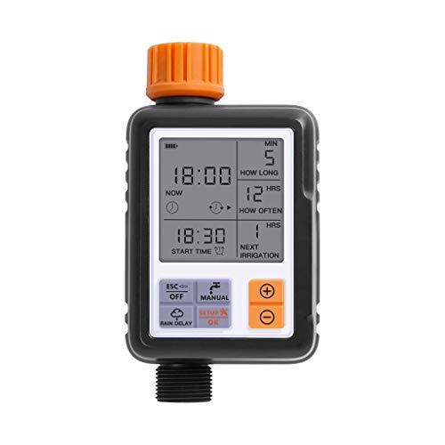 Aiglen Pantalla LCD Controlador automático de agua automática Controlador de rociadores de jardín al aire libre Temporizador de riego automático Herramientas de riego (Color : A)