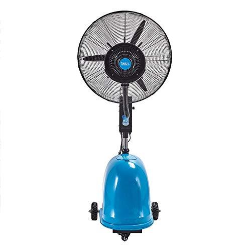 FUFU Climatizadores evaporativos Ventilador de niebla de alta potencia, ventilador de pedestal oscilante de 26 pulgadas con 3 configuraciones de velocidad, altura ajustable Proporciona una niebla fres