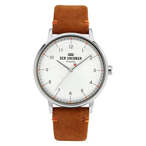 Ben Sherman Herren Analog Quarz Uhr mit Leder Armband WB043T